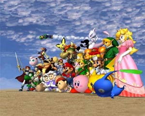Pikmin with all other SSBM characters